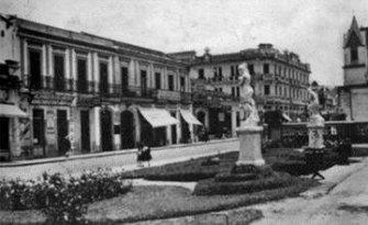 La Sexta Avenida en 1930, entre 14 y 13 calles, foto por Juan Arturo Perez