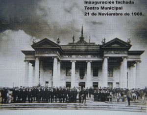 Teatro Municipal en 1908 por Jorge Perez 300x236 - El Origen del Teatro Municipal de Quetzaltenango