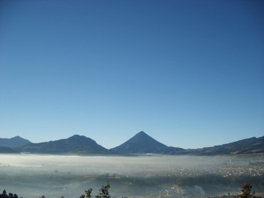 Foto por Juan Arturo Martinez - Vista al municipio de Olintepeque, Quetzaltenango.