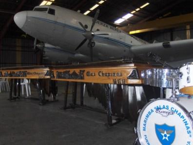"""La emblemática marimba """"Alas Chapinas"""" de la Fuerza Aérea Guatemalteca. Fotografía de Eduardo Jagan."""