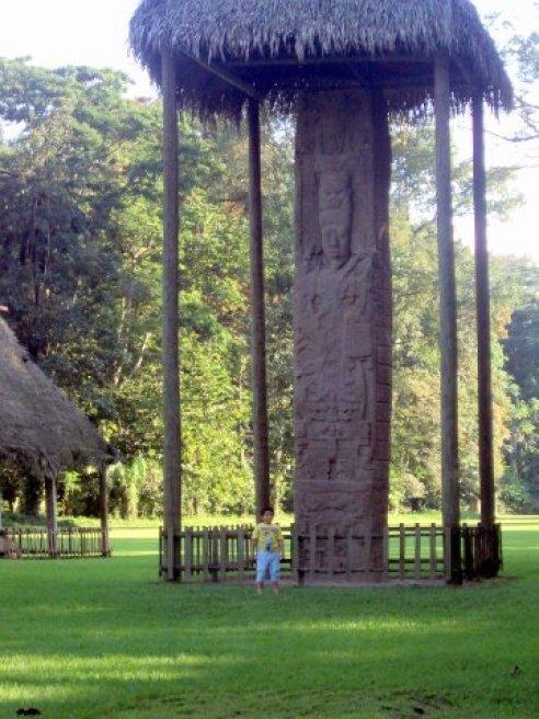 Estela de Quirigua foto por - Silvia Sanchez