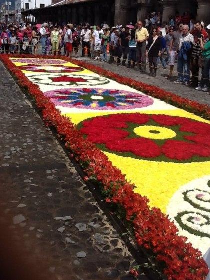 Alfombras de Semana Santa, foto por Gustavo A. Cacheo.
