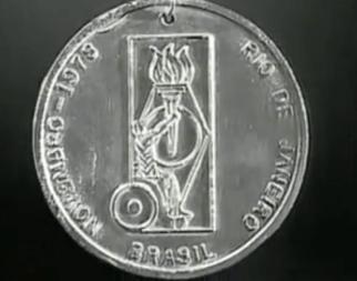 Medalla ganada por el campeon guatemalteco Jose Rolando de Leon