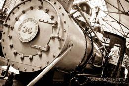 Otro angulo de la Locomotora 34 museo del Ferrocarril foto por Rodrigo Motta - Galería – Fotos del Ferrocarril de Antaño en Guatemala