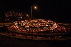 Reloj de Flores iluminado foto por Mariella Buenafina - Galería – Fotos de la Ciudad de Guatemala