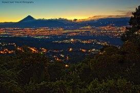 La Ciudad de Guatemala al atardecer - foto por Wassem Syed
