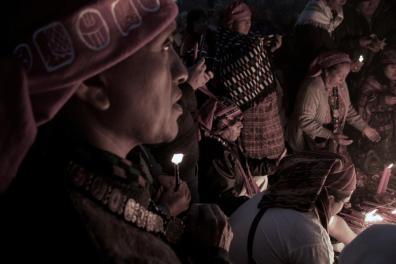 Baktun 13 Celebración del cambio del Baktún en Kaminal Juyu foto blanco y negro por Pablo Estrada - Galería – Fotos de la Celebración del Baktún 13, Guatemala 2012