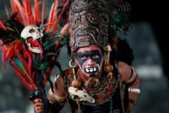Baktun13, personaje Maya en Tikal- foto por Alvaro Lima
