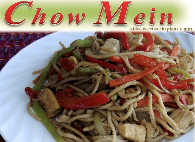 Video Por Recetas Chapinas y Más – Chow Mein