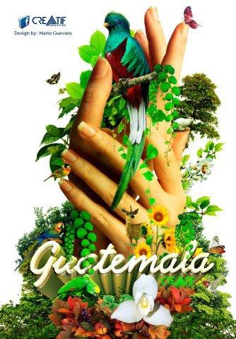 Arte Grafico Guatemala Verde Viva Mágica y Ancestral por Arte Grafiko Mario Guevara - Galería - Arte Gráfico de Temas de Guatemala