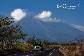 Volcanes de Fuego y Acatenango - foto por Karla Castellanos