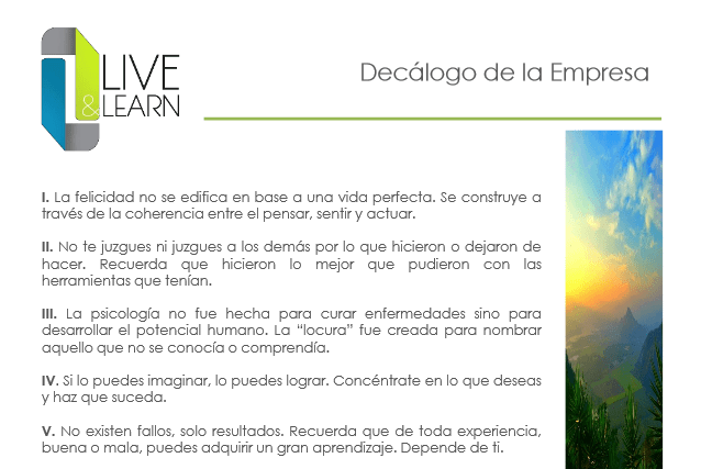 live and learn 11 - Live & Learn - Empresa de Servicios de Psicología Aplicada