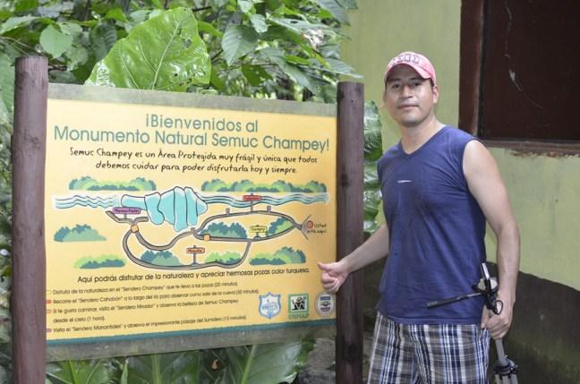 Bienvenida al parque y rótulos interpretativos - Guía Turística - Semúc Champey, Alta Verapaz