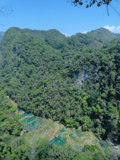 Vista panorámica de los manantiales de Semuc Champey fotografía Juan Carlos Estrada - Guía Turística - Semúc Champey, Alta Verapaz