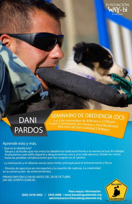 afiche Dani Pardo - Bocalán Guatemala