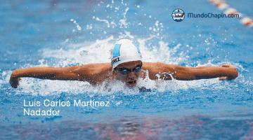 El nadador Luis Carlos Martínez
