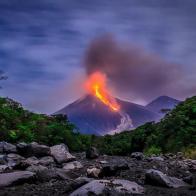 Erupción del volcán de Fuego - foto por Javier Ordonez