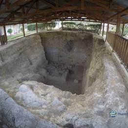 Lugar de excavación en el Mamut