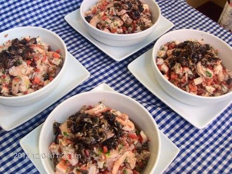 Comida Ceviche Mixto Restaurante Bocabarra - 19 platos que debes probar en Guatemala