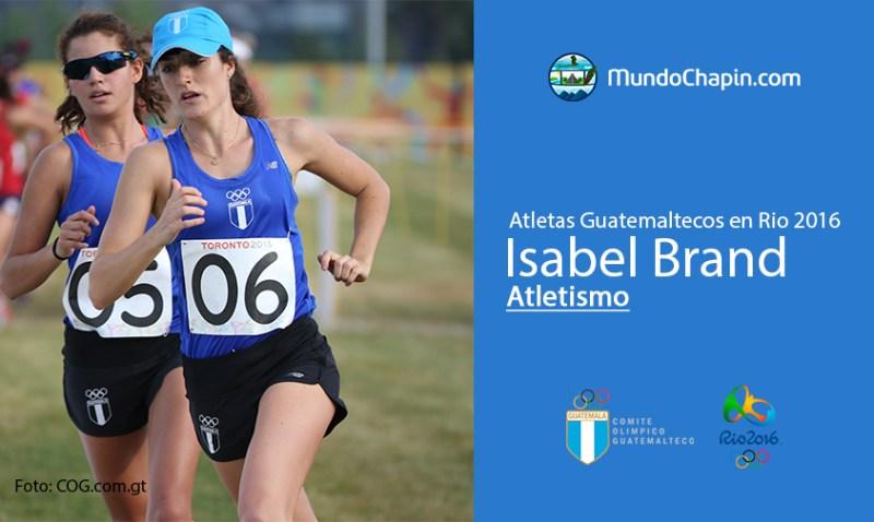 isabel brand rio2016 mundochapin - Los 21 atletas guatemaltecos en Río 2016
