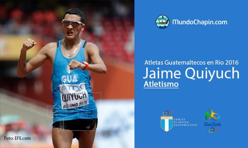 jaime quiyuch rio2016 mundochapin - Los 21 atletas guatemaltecos en Río 2016