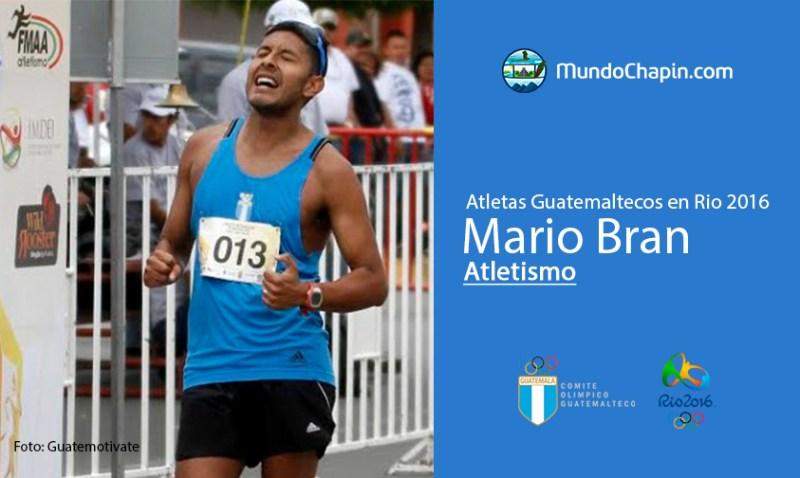 mario bran rio2016 mundochapin - Los 21 atletas guatemaltecos en Río 2016