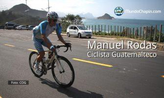 El ciclista guatemalteco Manuel Rodas