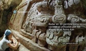 Radar en 3D permite conocer carreteras utilizadas por los Mayas en el Reino Kan