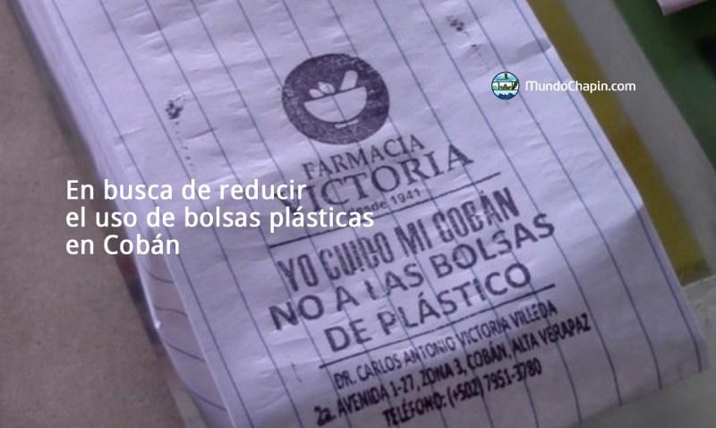 En busca de reducir el uso de bolsas plásticas en Cobán