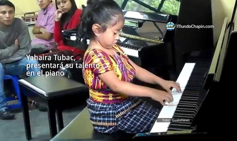 Yahaira Tubac, presentará su talento en el piano