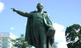 Monumentos en la Avenida de las Américas, ciudad de Guatemala