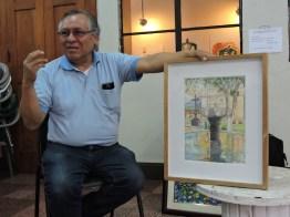 foto 4 por gustavo balcarcel - El maestro Ajín es un potencial artista de la acuarela en Guatemala