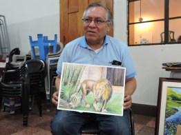 foto 7 por gustavo balcarcel - El maestro Ajín es un potencial artista de la acuarela en Guatemala