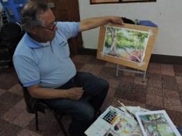 foto 8 por gustavo balcarcel - El maestro Ajín es un potencial artista de la acuarela en Guatemala