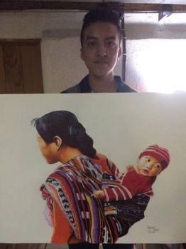 30714026 2055103774777928 3559798903584849920 n - Retratos idénticos de la mano de un joven chapín