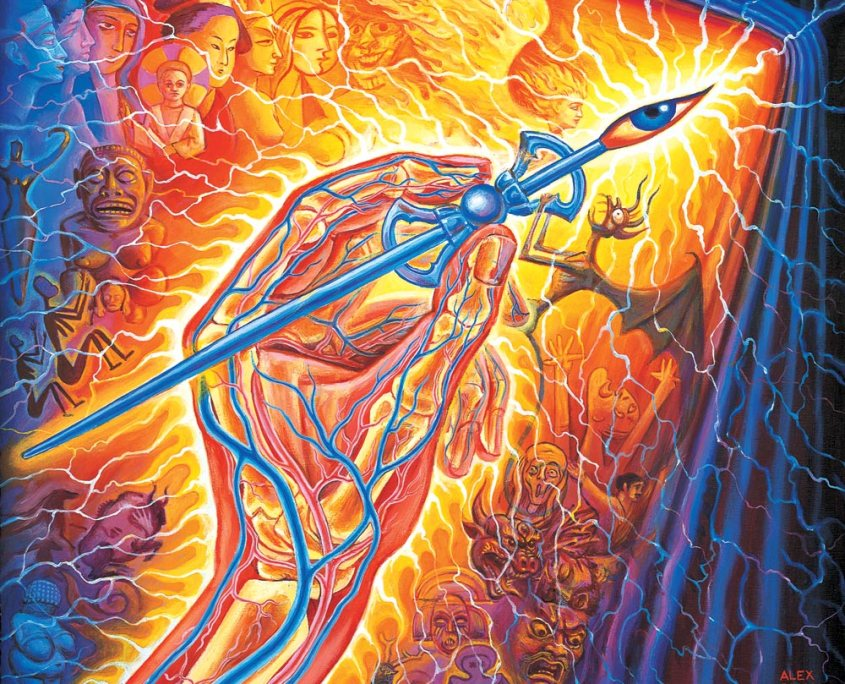 Artists Hand – Alex Grey