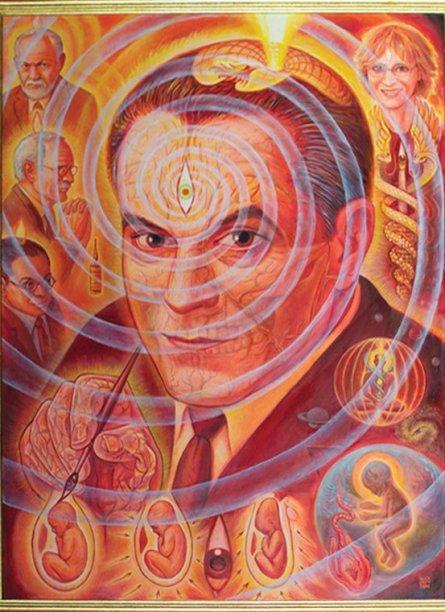 Retrato de Stanislav Grof pintado por Alex Grey