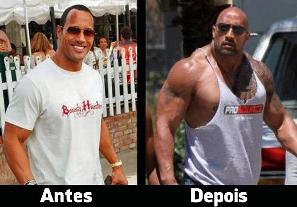 the rock antes e depois