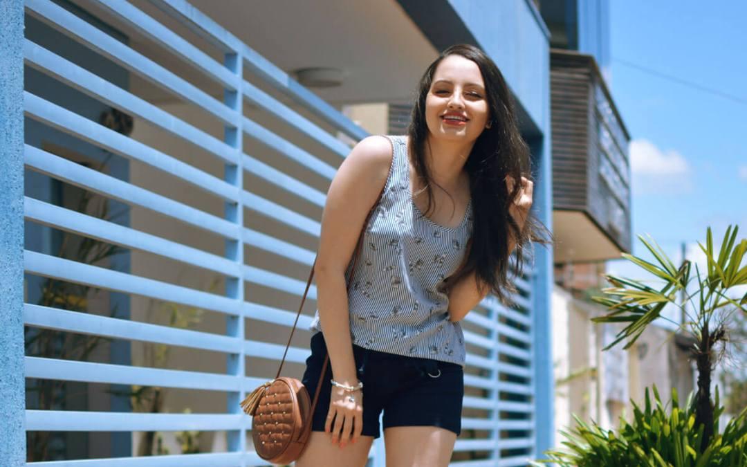 Look de Verão Azul