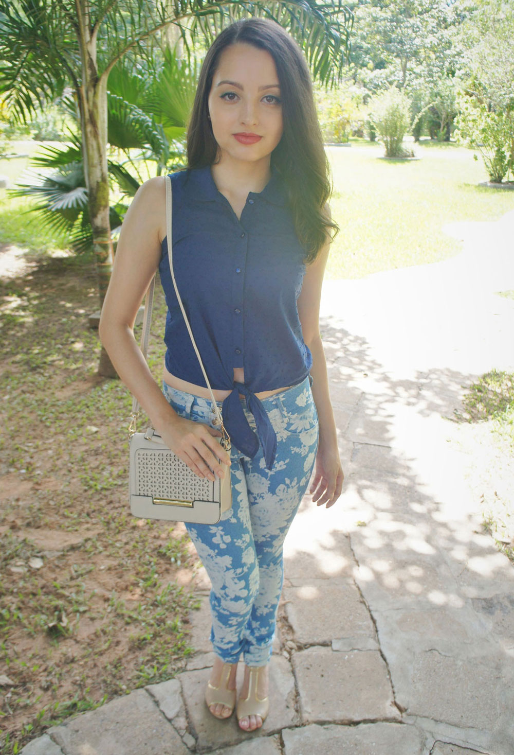 Look Cropped Azul