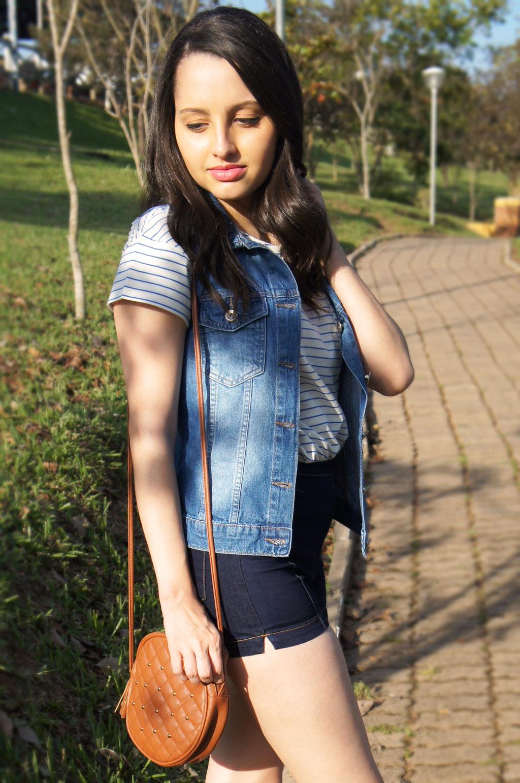 Caramelo e Jeans Azul