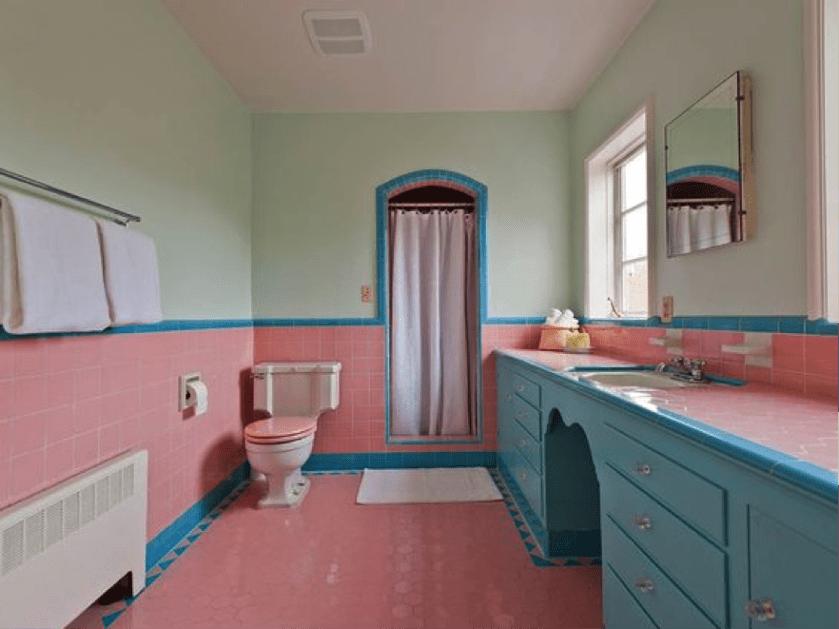 reforma de baño vintage