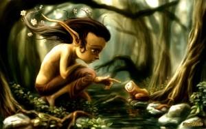 Dibujo Elfo joven