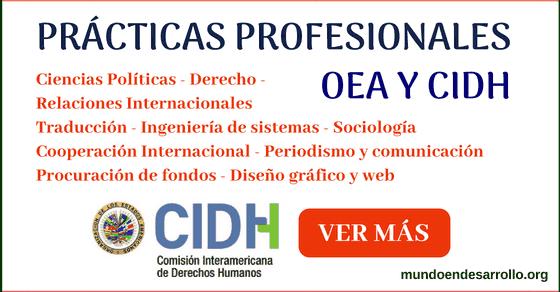 Prácticas profesionales en la CIDH