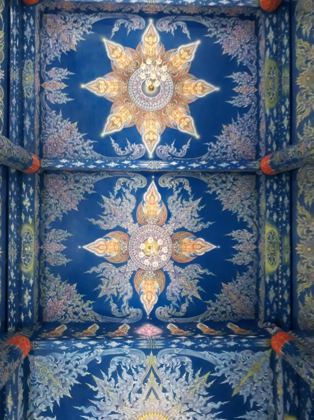 blue temple ceiling