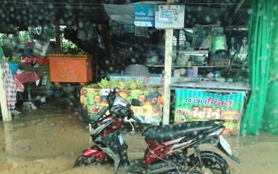 Buengkan Road during Monsoons