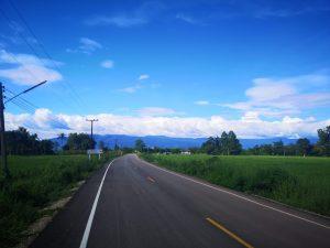 photos of buengkan road and mountains