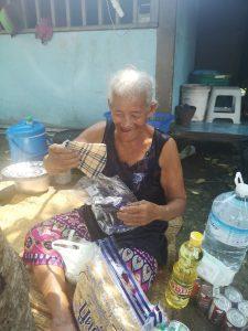 elder nong receiving care package