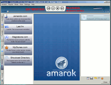 Amarok en Windows