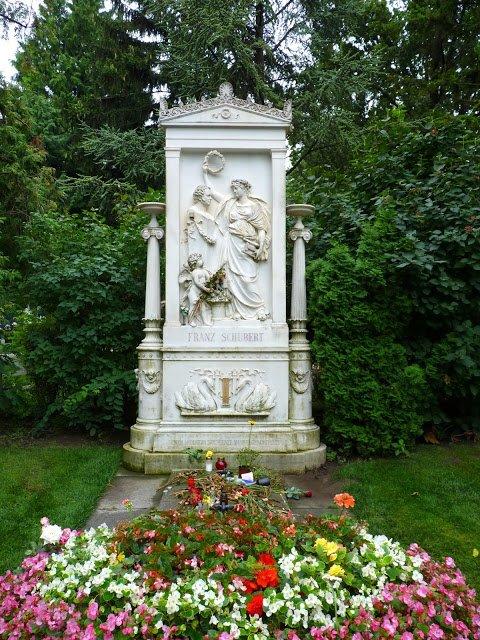 Viena Áustria Cemitério Schubert Mundo Indefinido